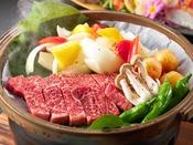 【2020夏の花栞】但馬牛と夏野菜の陶板焼き