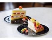 季節に応じたケーキを提供いたします。※写真は一例でございます。