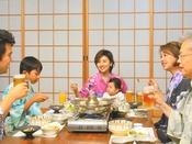 お部屋食プランはご家族ご友人の皆様で水入らず、ごゆっくりお食事をお愉しみいただけます♪