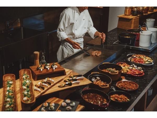 レストラン「森のキッチン」ライブキッチン