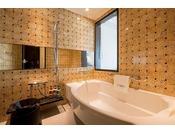 <スーペリア・デラックス・ラグジュアリー/バスルーム>ダブルルームのお部屋以外は、全てバスルーム、トイレが別となっておりますので、ご家族連れにはお勧めです。