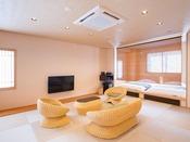 ◆露天風呂付客室68.4平米◆4名定員/和ベッド+露天風呂+シャワー室+食事部屋+居間