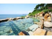 【混浴露天風呂「浜千鳥の湯」】その時にしか見れない海を満喫し、癒されてください。