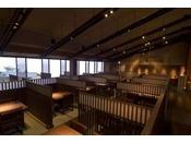 食事処【潮さい】紀州舟盛会席をご提供している会場 イステーブル席にてご用意しております。