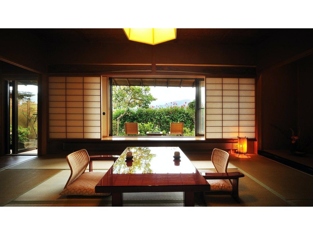 【客室Aタイプ一例「曙」】 お部屋から四季折々の蔵王連峰を眺めることができることが魅力のお部屋です。