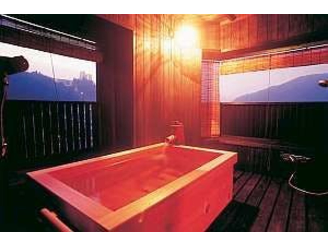 ともしび朝日の綺麗な檜露天風呂付客室
