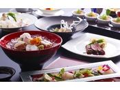島の旬の食材を和食とフレンチで味わう創作会席≪料理イメージ≫