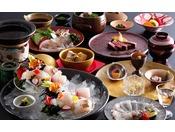 春に旬を迎え身体を淡いピンク色に輝かせる事から桜鯛と呼ぶ鳴門の真鯛を使った会席料理≪料理イメージ≫