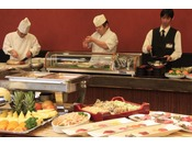 【レストラン』『千味の抄』バイキングのお食事をお楽しみください。