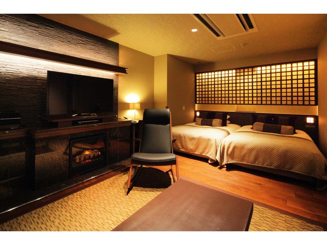 スーペリアツインルーム/広々としたベッドでゆっくりとお休みいただけます。