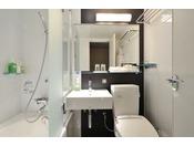 スタイリッシュなデザインのバスルーム一例
