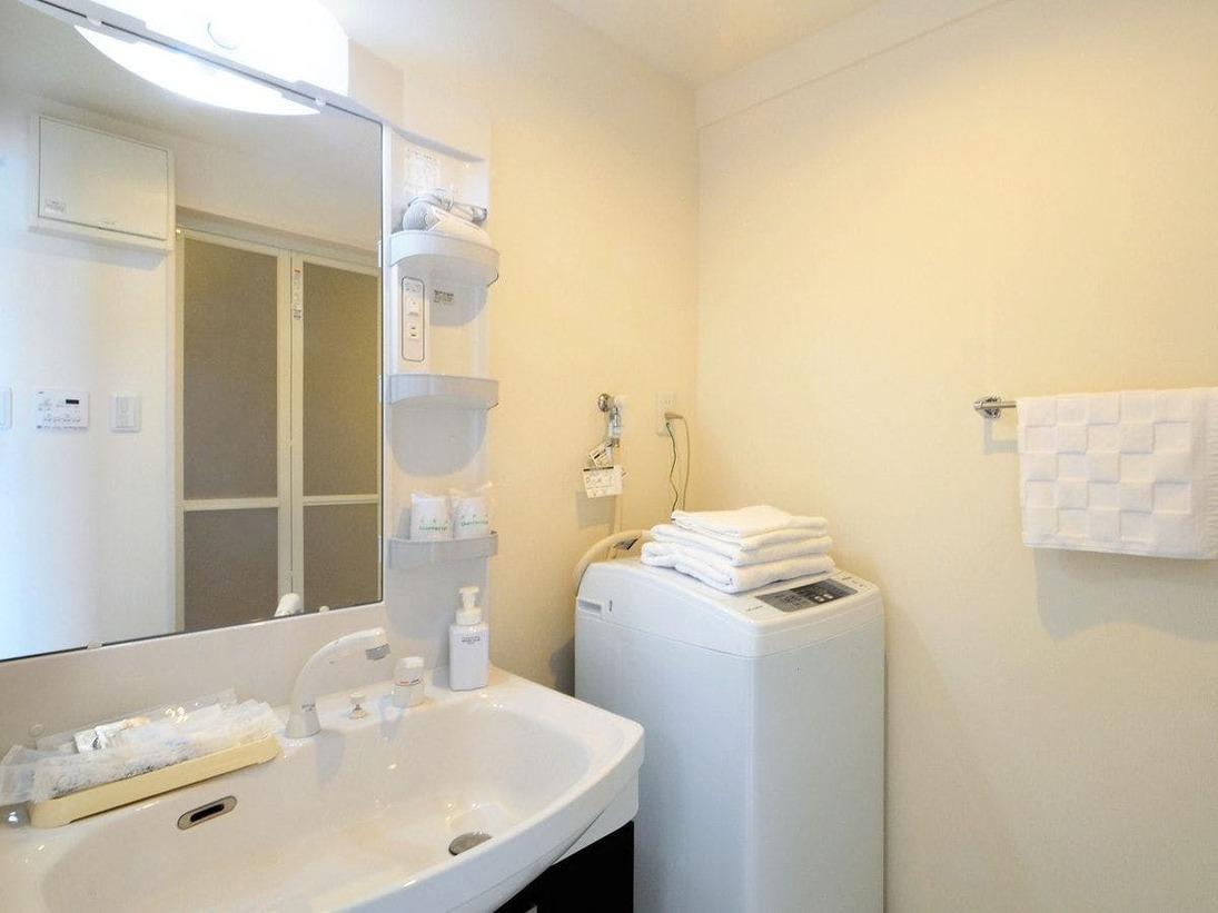 【客室2LDK】洗濯機・洗面台