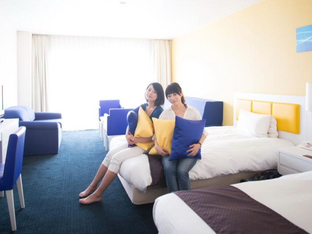 客室最上階フロアー【地中海ツインルーム】(35平米・全室禁煙)