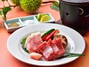上州牛ともち豚の二色焼き