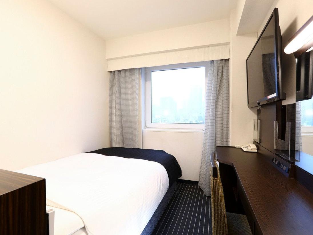 ■セミダブルルーム 10平米120cm幅ベッド1台 カップルにうれしいリーズナブルなお部屋
