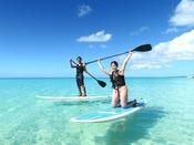 【スタンドアップパドルボート】今話題のSUPが気軽に体験できます。海上を散歩する贅沢なひとときをお楽しみください。
