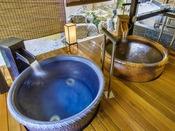 1階「天地の湯」の壺風呂。湯船を独り占め!