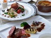 広島県産の魅力ある食材を用いた洋食のコースディナー。
