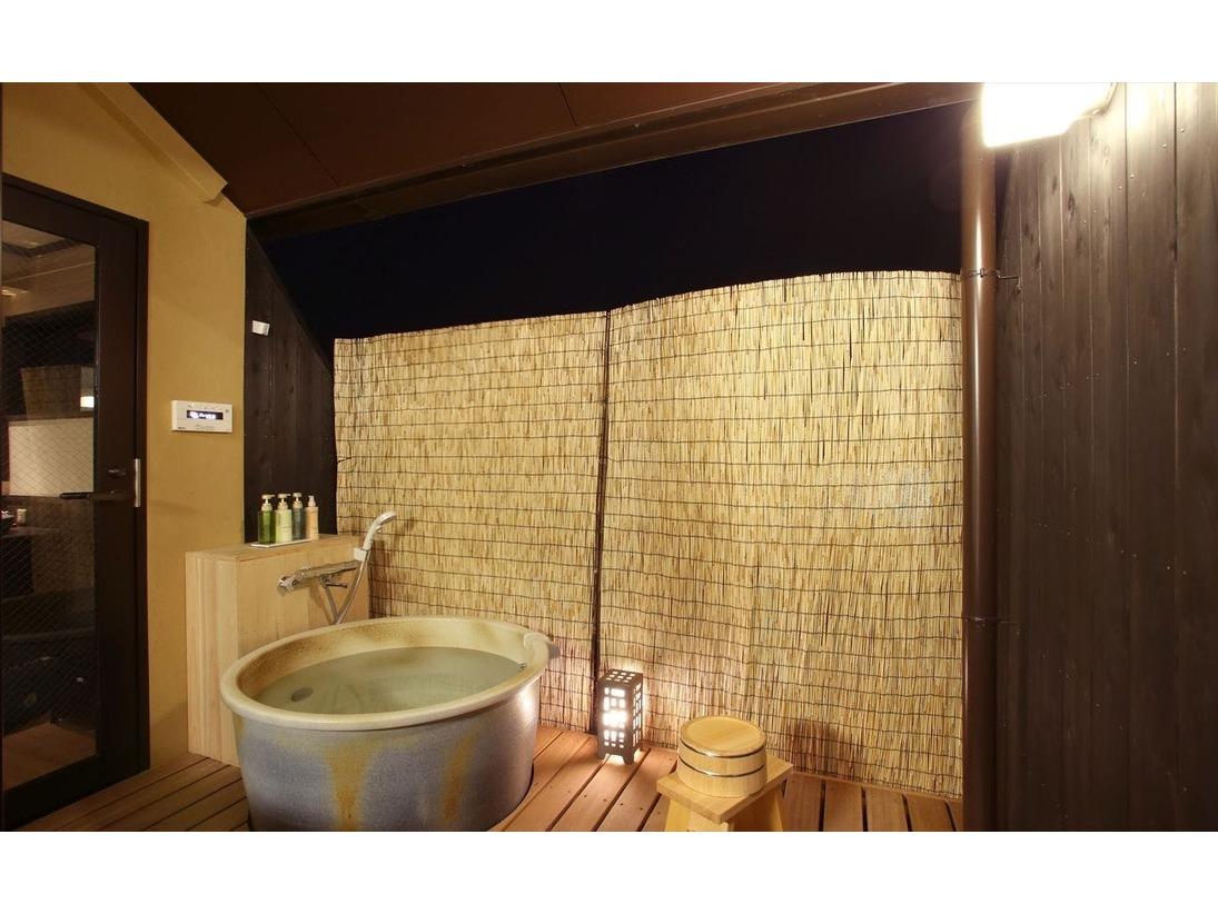 4階特別客室、1つ目の露天風呂は大仏殿、若草山側