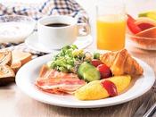 約50種類の和洋の朝食バイキング 洋食