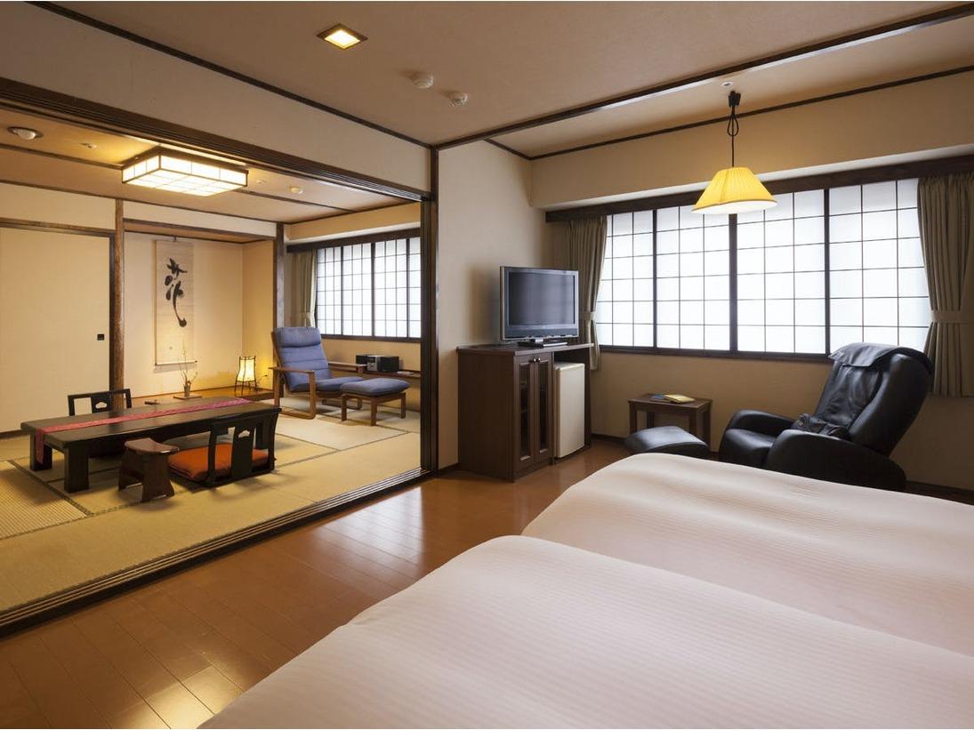 【7階特別フロア:和洋室/705、706号室】寛ぎの空間は和室でゆっくりと(客室一例)
