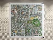 フロントロビーにてJR倉敷駅・美観地区周辺の鳥瞰図を展示しております。ホテルはどこかな?