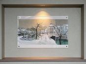 フロントロビーにて季節ごとに倉敷の絵画を展示しております。