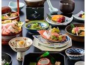 季節の食材を使った和食会席膳の一例