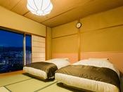 ■浮舟■畳で寛ぐも良し、ベッドでゴロンと寝転がるも良し。和ベッド客室ならではの居心地をご堪能ください