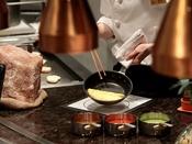 【オールデイダイニング カザ】ライブキッチンから美味しいお料理を香りとともに