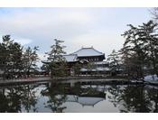 東大寺と鏡池