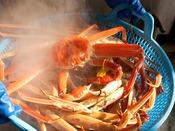 茹蟹は浜茹でしたものをお出しします。