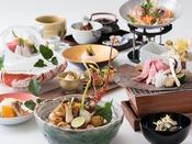 東北大会優勝(有名朝ごはん大会2015)の料理長がこだわって厳選した旬の素材をふんだんに使用した贅沢会席料理