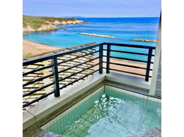 絶景の露天風呂付き特別室