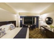 クラブ ダブル ベイビュー/20~29階/38平米/ベッド1台幅1800mm×長さ2000mm/景色:横浜港・ベイブリッジ側