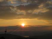 大谷山荘のお正月イベントと長門市の初日の出、初詣情報をご案内いたします(画像は千畳敷の初日の出2017年元旦