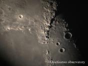 大谷山荘の天体ドームから撮影した月の様子