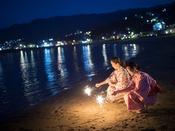 【夏のアクティビティ】浜辺de手持ち花火
