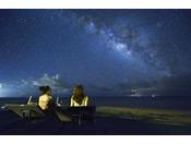 【はいむるぶしビーチ】外灯もないビーチからは満天の星空が目の前に広がります