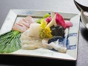 ◆夕食◆養殖ものは一切つかわず、天然の魚だけ。味を活かした調理法でお出ししております