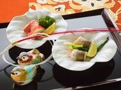 ◆夕食◆新春だけの装い。季節の恵みを大切に、魅せるお料理