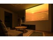 ≪ファミリーグランデ≫お好きなDVDを持ち込んで家族で楽しめるホームシアター