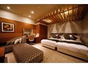 ■ラグジュアリーツインルーム■45平米 52インチTV 在来風呂