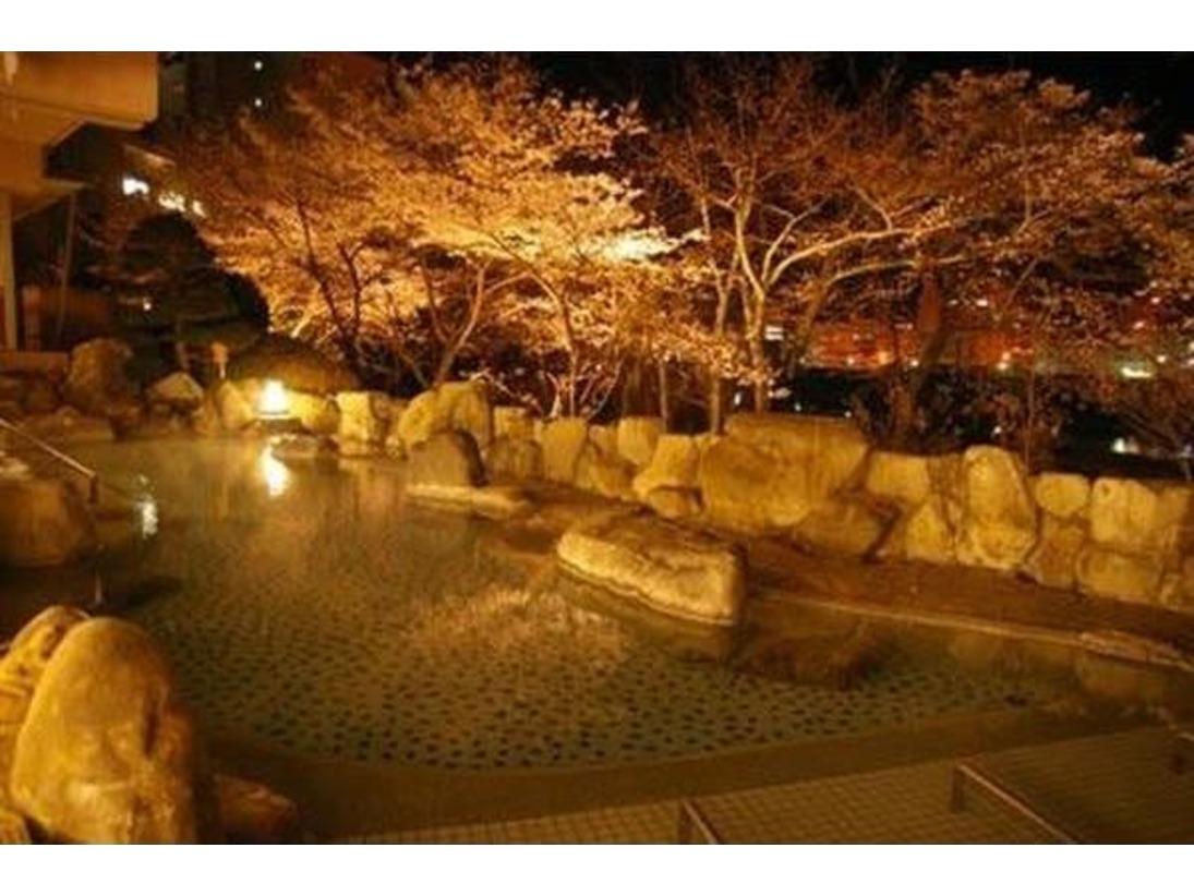 夜桜露天風呂