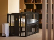 【大浴場パウダールーム】ベビーベッドもございますので、小さなお子様連れでも安心です。