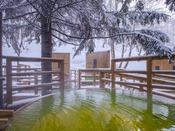 【森の散歩湯WOOD SPA】雪見露天の特等席も。