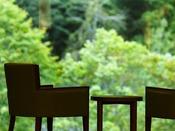 【ロビー】大きな窓一面に広がる緑を眺めながら、寛ぎのひとときを。