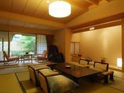 離れ松林亭:全5室は、ひと部屋毎に異なる意匠お泊りいただくお客様のための大切な空間をお約束いたします