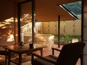 離れ松林亭:露天風呂付客室 離れ松林亭のお部屋は・・・美肌の湯にひたる独り占めのオアシスです