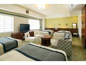 最大5名までご一緒に宿泊可能な広々とした「エレガンスルーム」ご家族3世代でのご旅行はもちろん、女子会などご友人同士でのグループ旅行にも最適な4室限定のお部屋です。【サウスサイド】